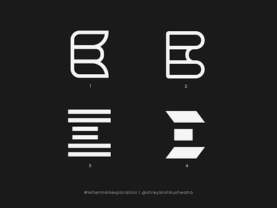 E Monogram   Letter Mark Exploration - 5/26 vector shapes letter mark logo design logo design concept lettermarkexploration logo monogram logo logo design richwithdesigns logomark logo mark