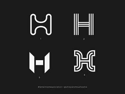 H Monogram   Letter Mark Exploration - 8/26   H Logo Design monogram letter mark logotype vector shapes logo mark lettermarkexploration richwithdesigns brand identity design monogram logo logomark logo design