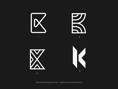 K Monogram   Letter Mark Exploration - 11/26   K Logo Design shreyansh kushwaha lettermarkexploration design monogram letter mark branding brand identity design shapes monogram logo logomark logo design richwithdesigns