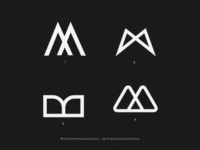M Monogram   Letter Mark Exploration - 13/26   M Logo Design shreyansh kushwaha logotype shapes monogram logo monogram letter mark lettermarkexploration logo mark logo logomark logo design richwithdesigns