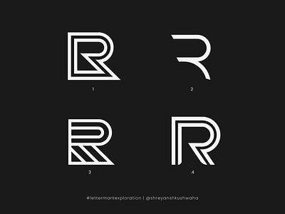 R Monogram   Letter Mark Exploration - 18/26   R Logo Design logo mark shreyansh kushwaha vector logotype monogram letter mark monogram logo lettermarkexploration logomark logo design richwithdesigns
