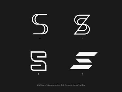 S Monogram   Letter Mark Exploration - 19/26   S Logo Design logotype shreyansh kushwaha logo mark vector monogram letter mark monogram logo lettermarkexploration logomark logo design richwithdesigns