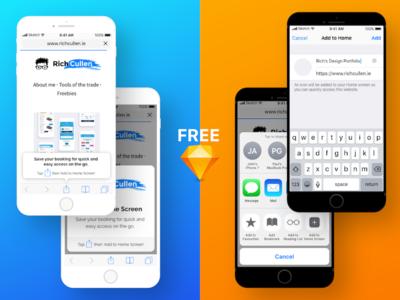 FREE Safari onboarding for PWA's safari onboarding template freebie progressive web app pwa