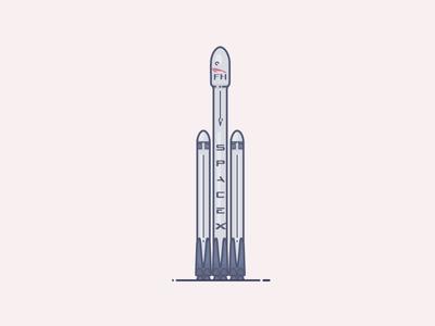 Falcon Heavy x space bandwagon musk elon rocket heavy falcon