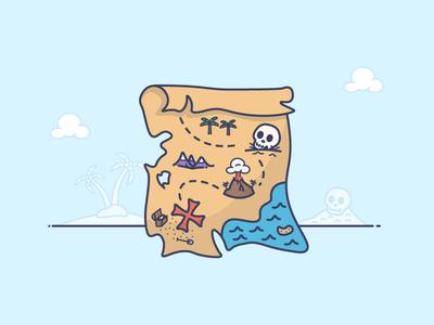 Treasure Map plan gold x scavenger map treasure pirate