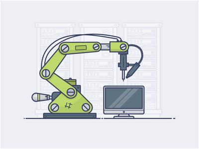 Robot arm mac technology tech build automated mechanics arm robot