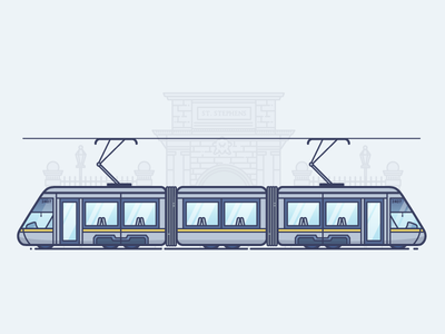 An Luas st. stephens green green line red line rail luas dublin tram