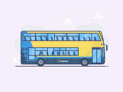 Dublin Bus double decker ireland transport dublin bus