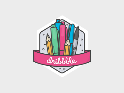 Dribbble Sticker competition competition sticker dribbble