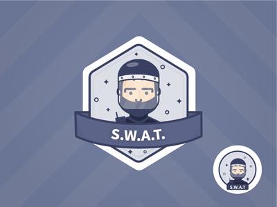 S.W.A.T. logo sticker swat