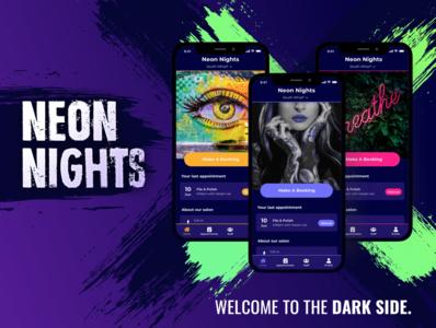 Neon Nights app theme neon grunge theme