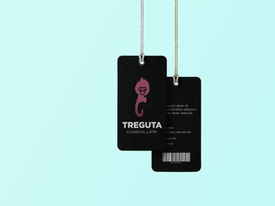 treguta hang tag price tag clothing design care labe necklabel illustrator hangtag cerelabel branding graphic design design