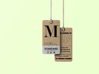 Tag Mockup logo clothing design design branding care labe necklabel hangtag cerelabel illustrator graphic design