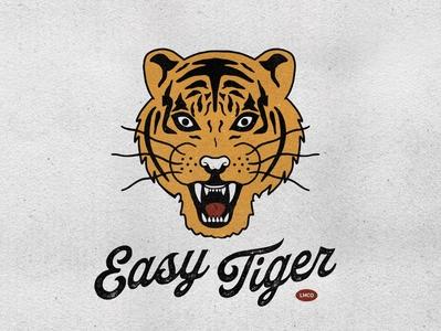 T-Shirt & Flag Design for Luna Mercantile Co. texture tiger mascot graphic tee tattoo moto mascot illustration retro design logo vintage vintage illustration retro design branding tiger