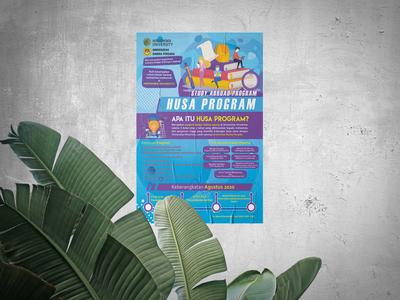 HUSA Program Poster graphic design poster poster design