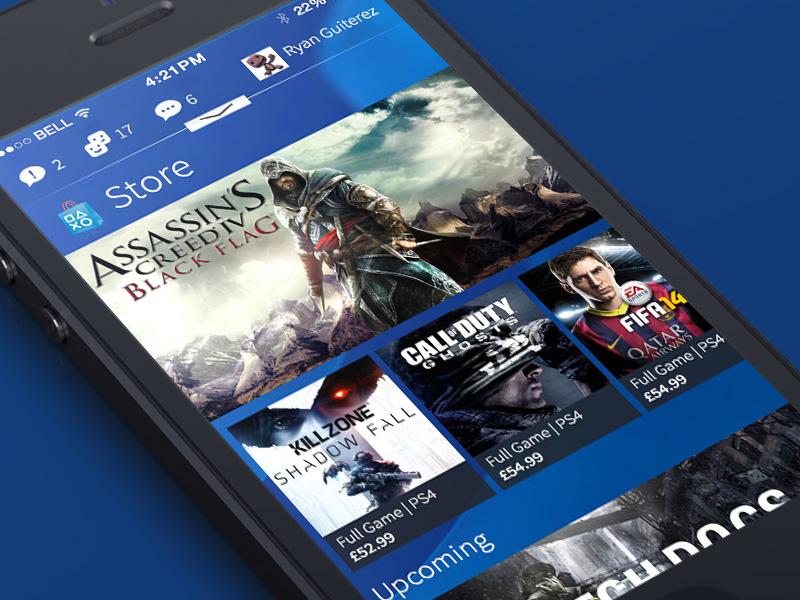 Playstation app Concept UI ui design mobile ios concept playstation