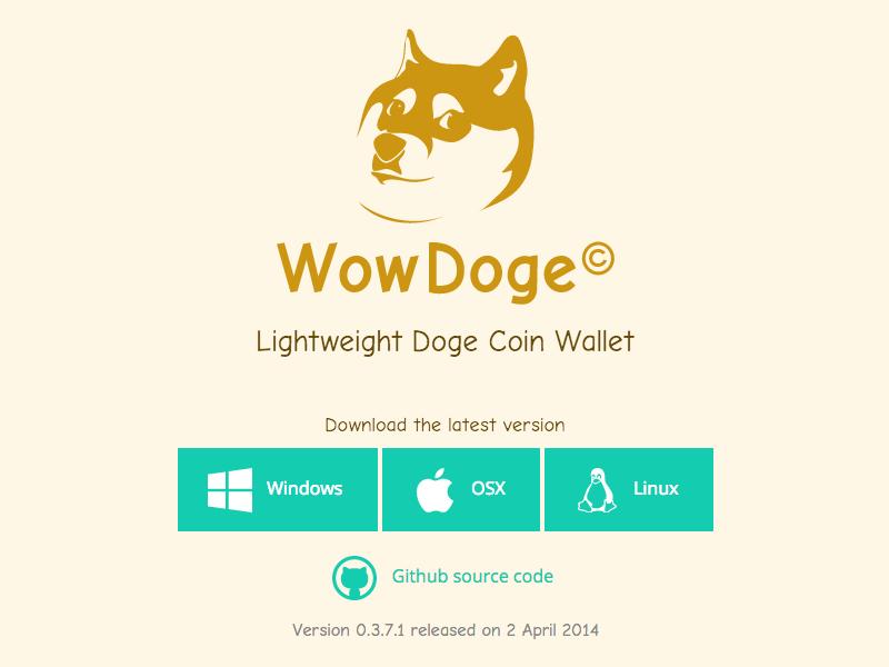 WowDoge website wowdoge wow doge website ui design web