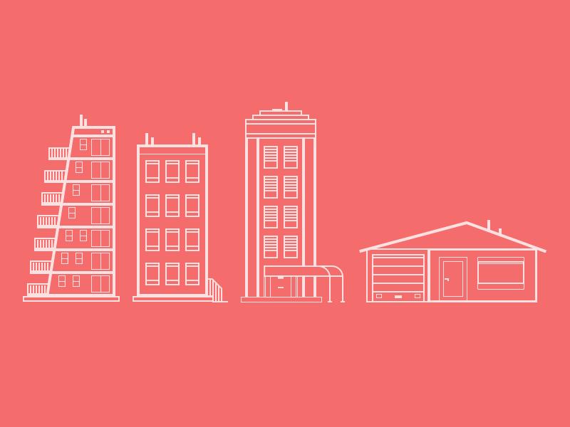 Building building buildings illustration line buildings design