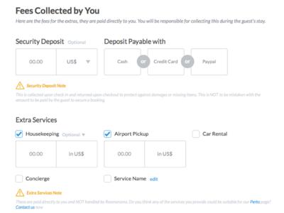 Fees form design form design ui website toggles check box input