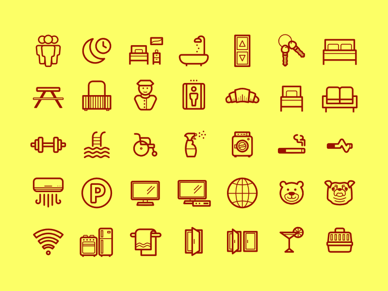 Property related icons illustration line property icons