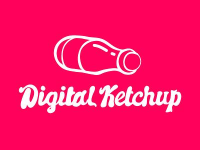 Digital Ketchup! logo icon design typography
