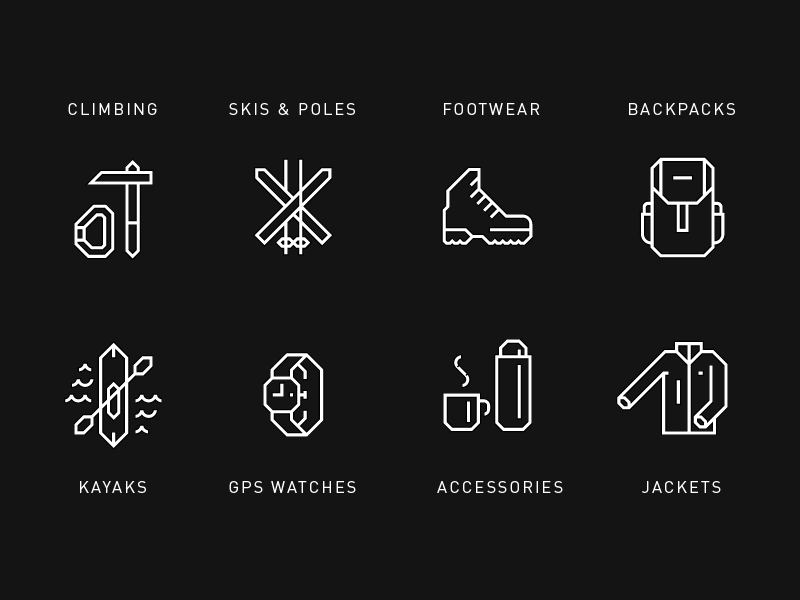 Product Category Icons For Hardhaus By Heydays Dribbble Dribbble