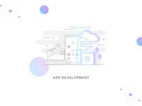 #Service-3 App Development Illustration