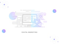 #Service-5 Digital-marketing Illustration