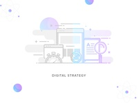 #Service-6  Digital Strategy Illustration