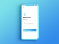 Login screen Medical App