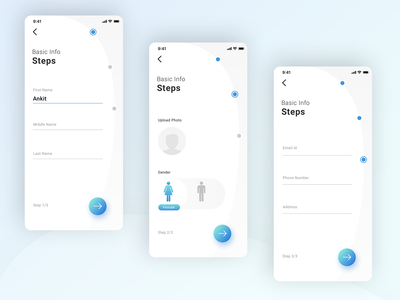 Registration Steps Medical App #3 Screen