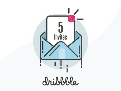 5 Dribbble Invites minimal clean best design designers mobile app design graphic designer ui designer design debut invite
