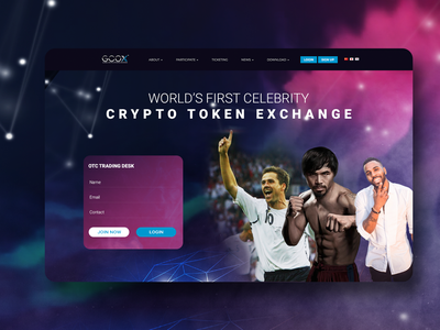 Landing Home Design clean celebrity crypto exchange crypto currency crypto interface colourful vector website design website design ux ui
