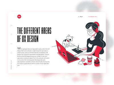 #Blog page 1 The Different Areas Of UX Design app design hire ui design unique interface website design clean website app design ux ui blog