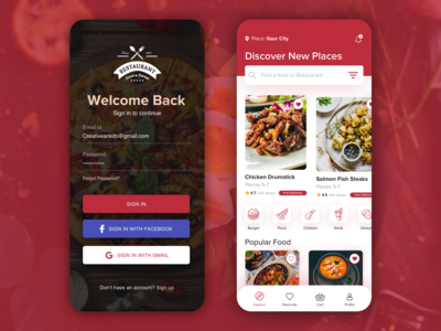 #4 Delivery app Landing screen concept