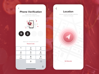 #5 Delivery app Verification and location screen concept