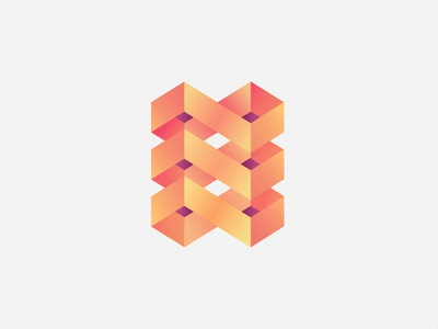Logotype For A Post Company boxes post geometry identity logo