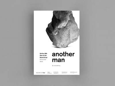 Poster for Mel Concept Store stone white clean minimal poster