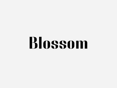 Blossom. Logotype blossom logo typography minimal.modern typo flower flora