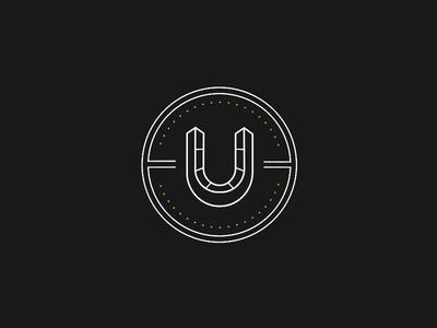 Luckybet horseshoe bet outline logotype monogram dots clean lines circle logo