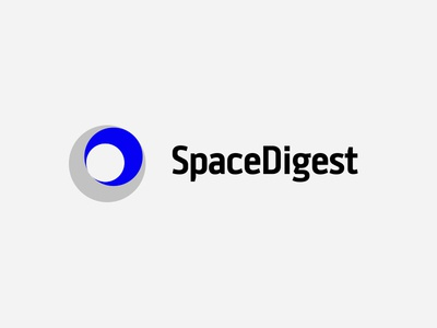Space Digest digest news electric blue logo clean circle space
