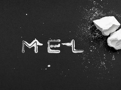 Mel Logo Craft logo chalk stamp paper craft