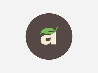 Market Ambar monogram brown circle supermarket shop market green a logo food fresh