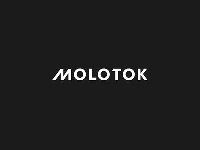Molotok school geometric bold clean school typo molotok logo identity