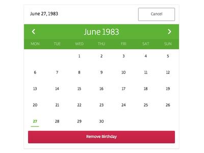 Calendar Modal