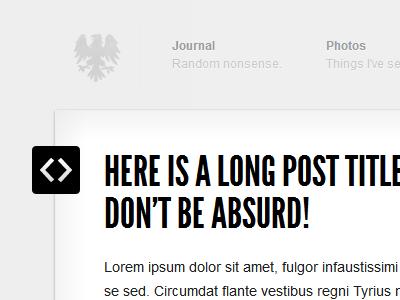 Blog Redesign / Header