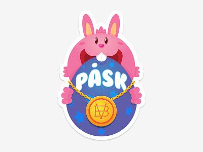 Easter Sticker bryggverket illustrator sticker beer chain bling easter bunny easter egg egg bunny