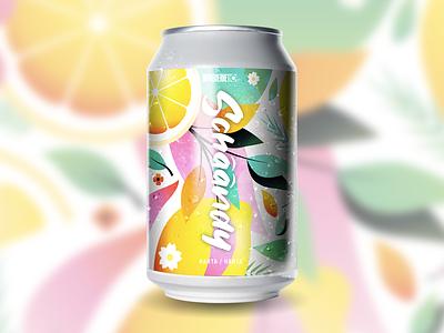 Schäändy citrus pattern beer label schandy fresh summer illustrator beer