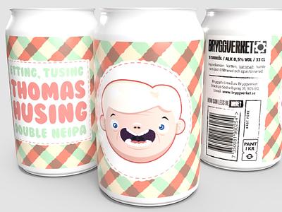 Jam jar beer label