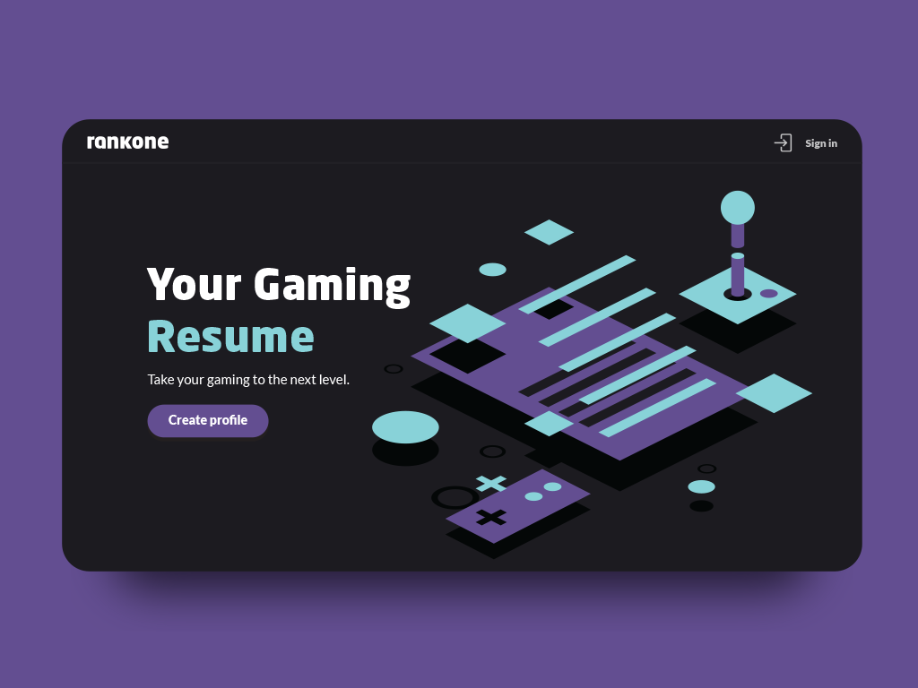 Build your gaming resume gamer rank one joystick game resume landingpage one rank gaming